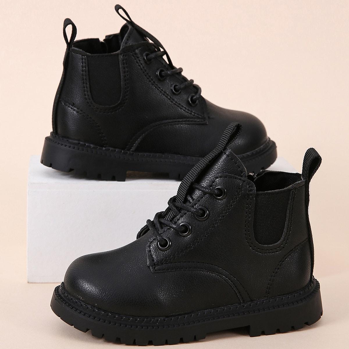 Ботинки на шнурках для мальчиков SheIn sk2107145840555448