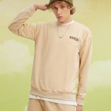 Guys Letter Graphic Sweatshirt & Shorts