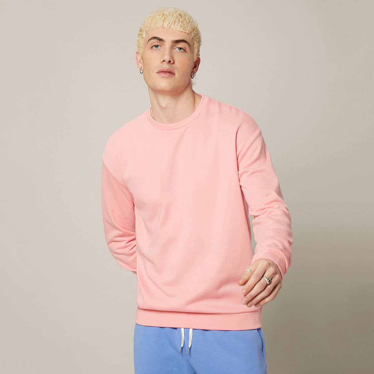 Men Solid Pullover, SHEIN  - buy with discount