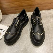 Lace-up Front Oxford Shoes