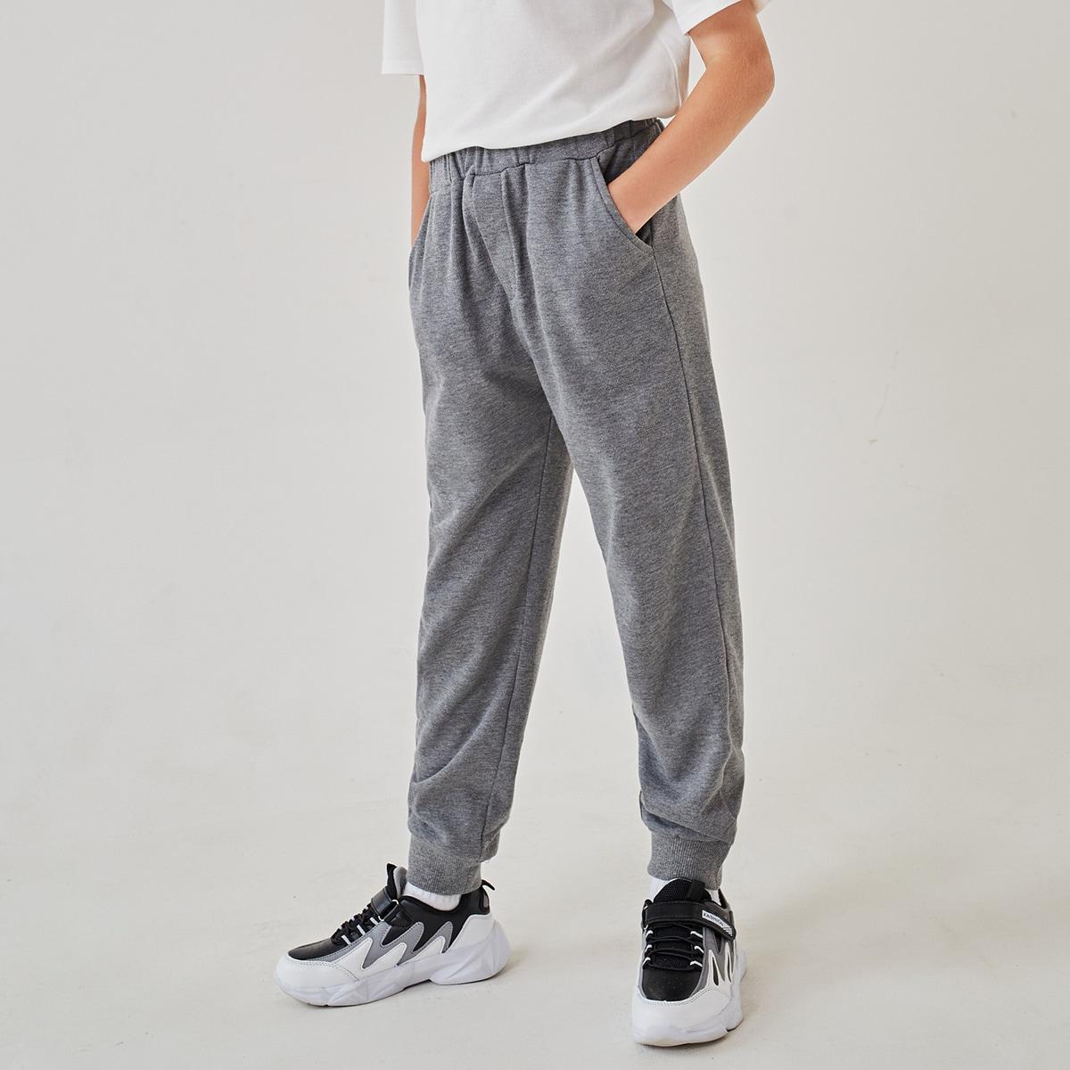 Boys Elastic Waist Sweatpants, SHEIN  - buy with discount