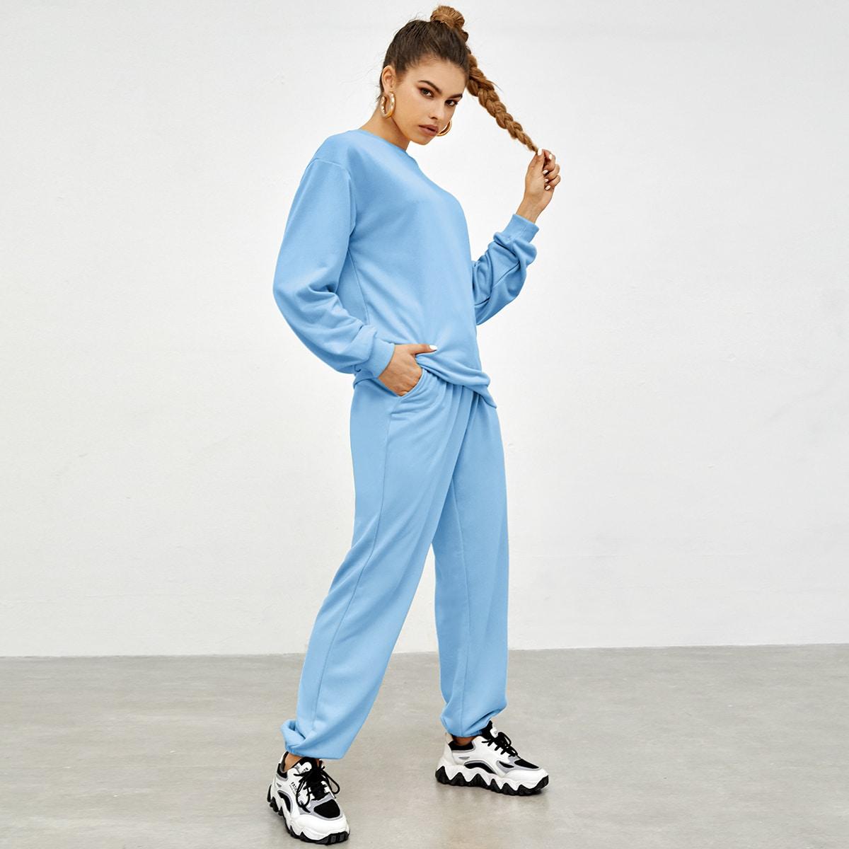 Вязаный пуловер и спортивные брюки SheIn sw2107153149910160