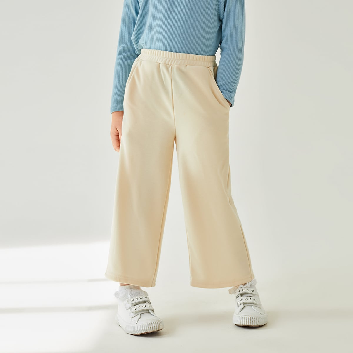 Toddler Girls Wide Leg Sweatpants, SHEIN  - buy with discount