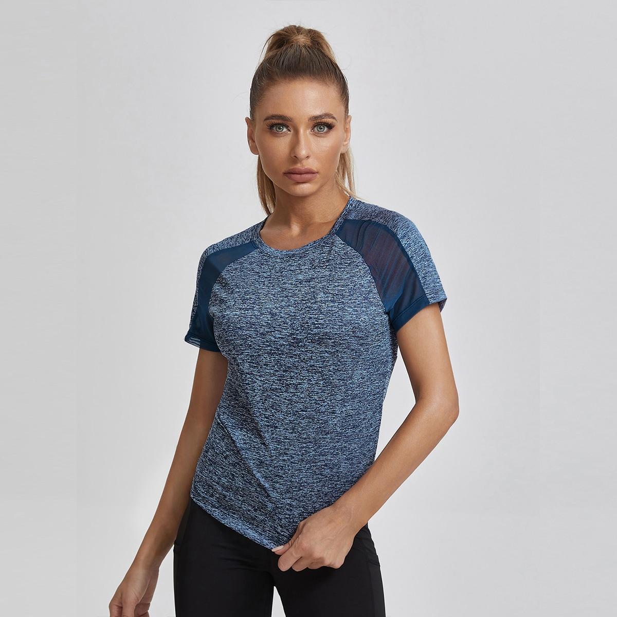 Спортивная футболка с рукавом реглан