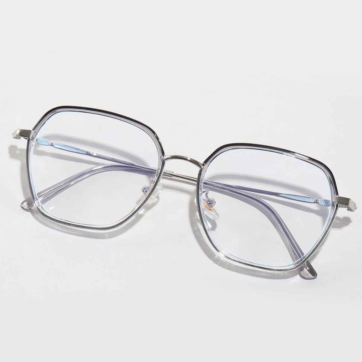 Очки с защитой от синего света в геометрической оправе