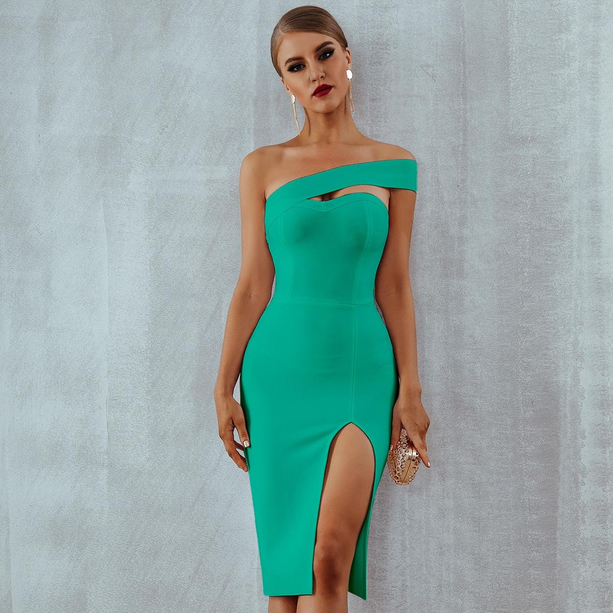 Платье на одно плечо SheIn sw2107156784894469