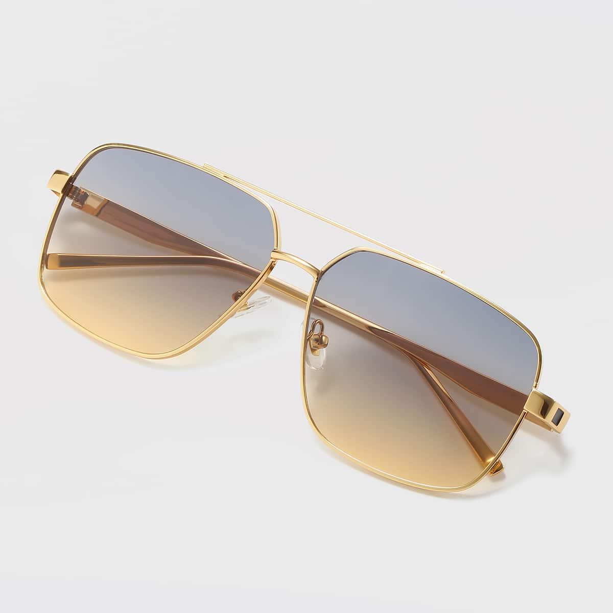 Солнцезащитные очки в геометрической оправе