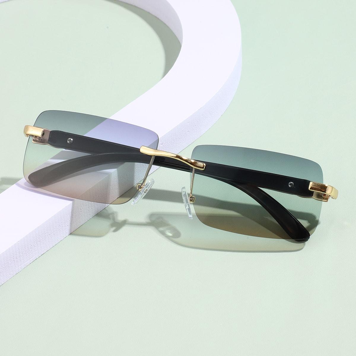Солнцезащитные очки без оправы квадратный