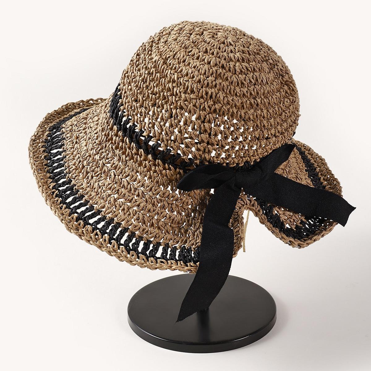 Соломенная шляпа двухцветный