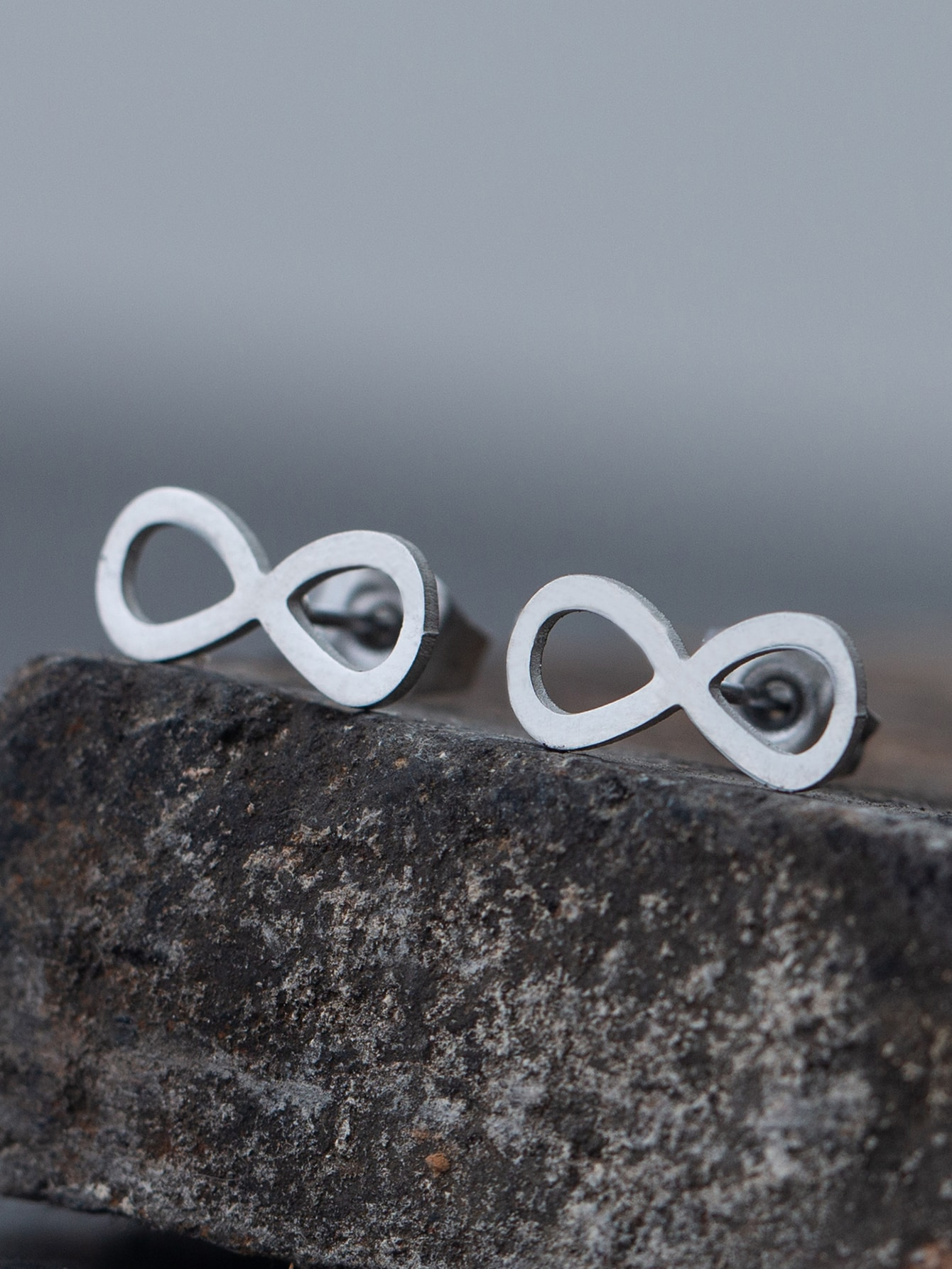 Stainless Steel Infinity Stud Earrings