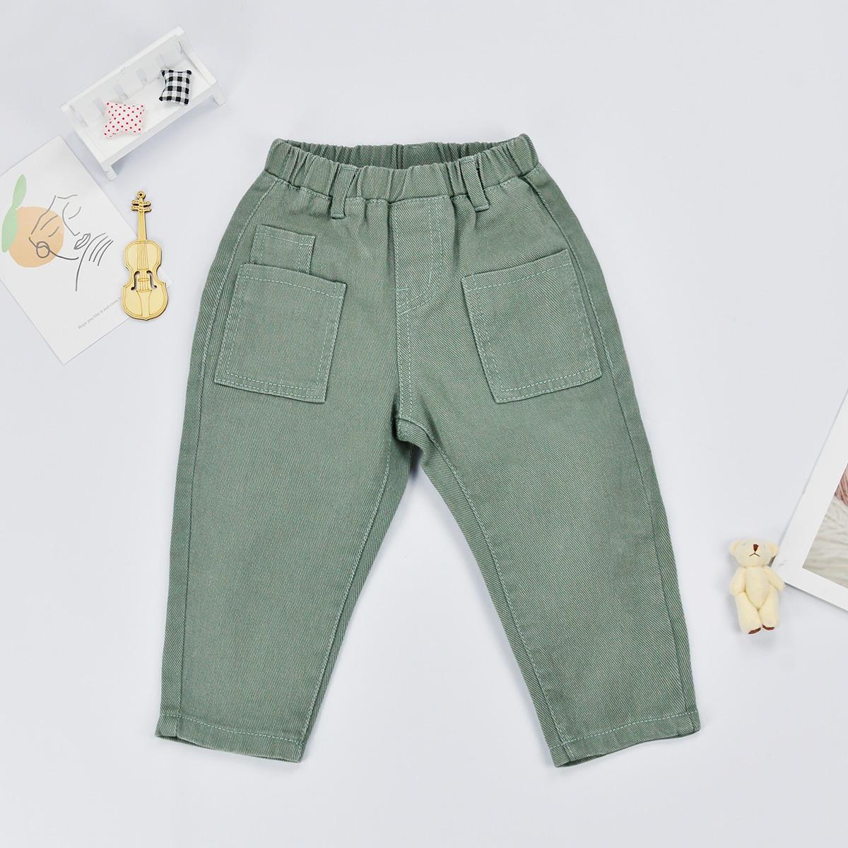 Джинсы с карманами для мальчиков от SHEIN