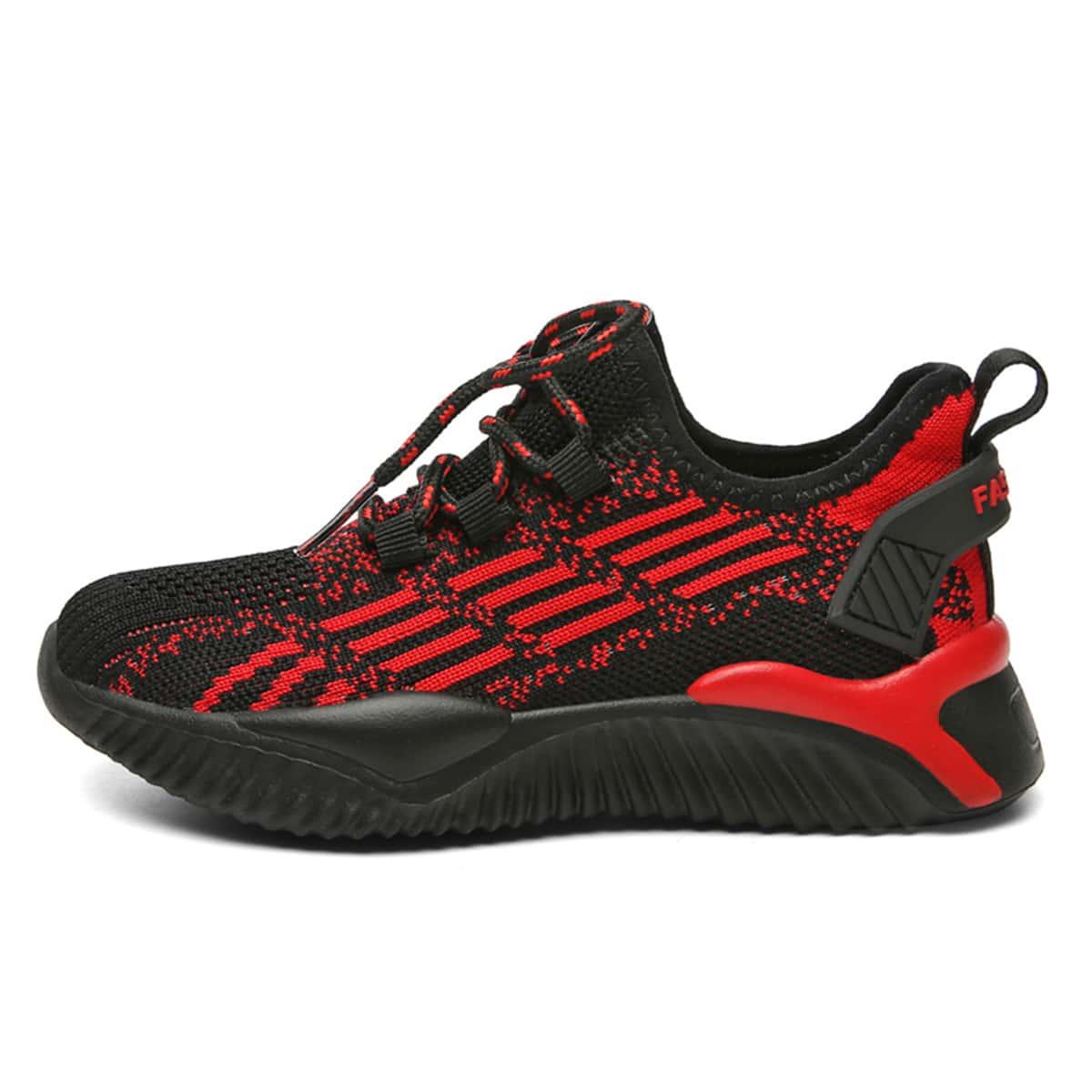 Двухцветная беговая обувь для мальчиков от SHEIN