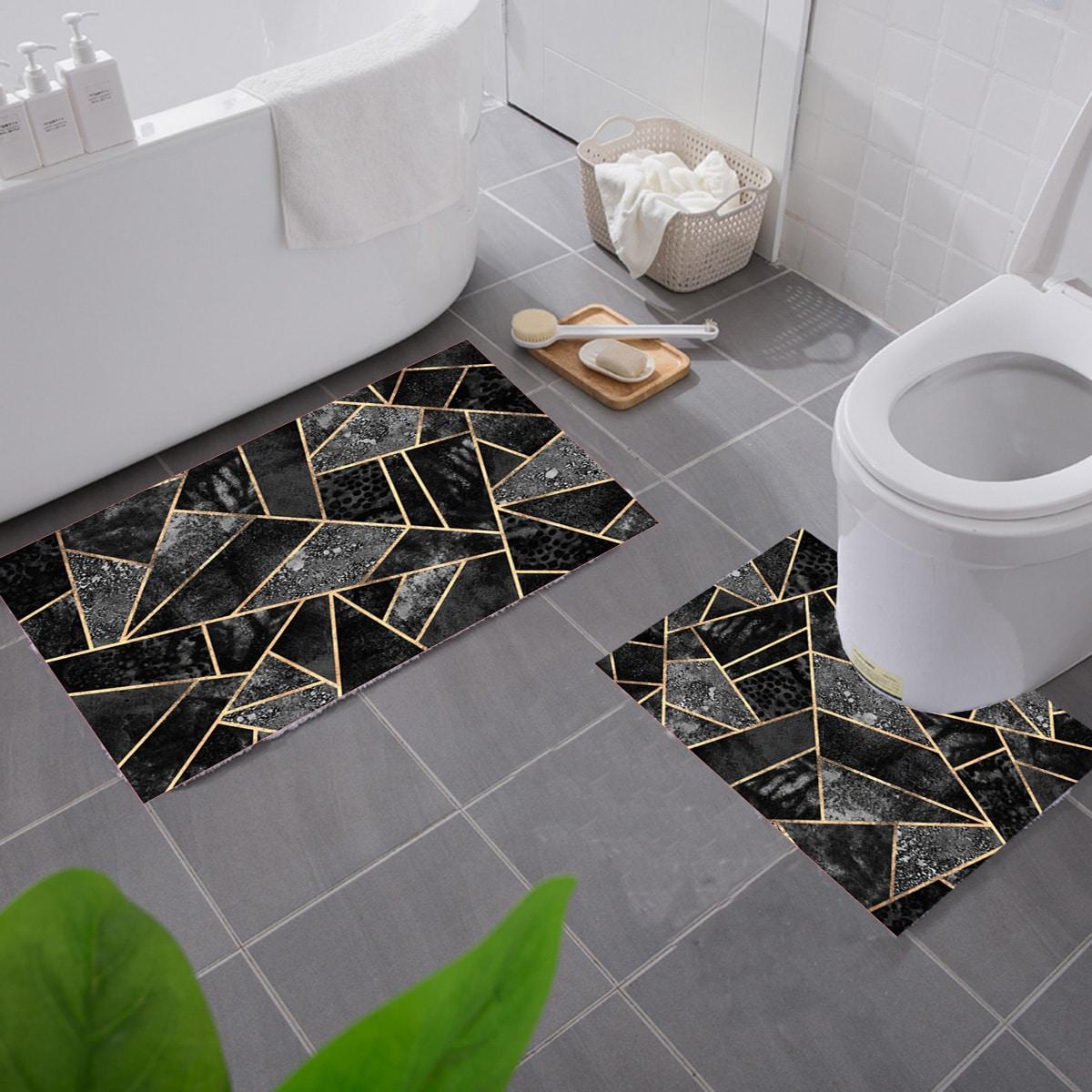 1шт Коврик для ванной с геометрическим узором