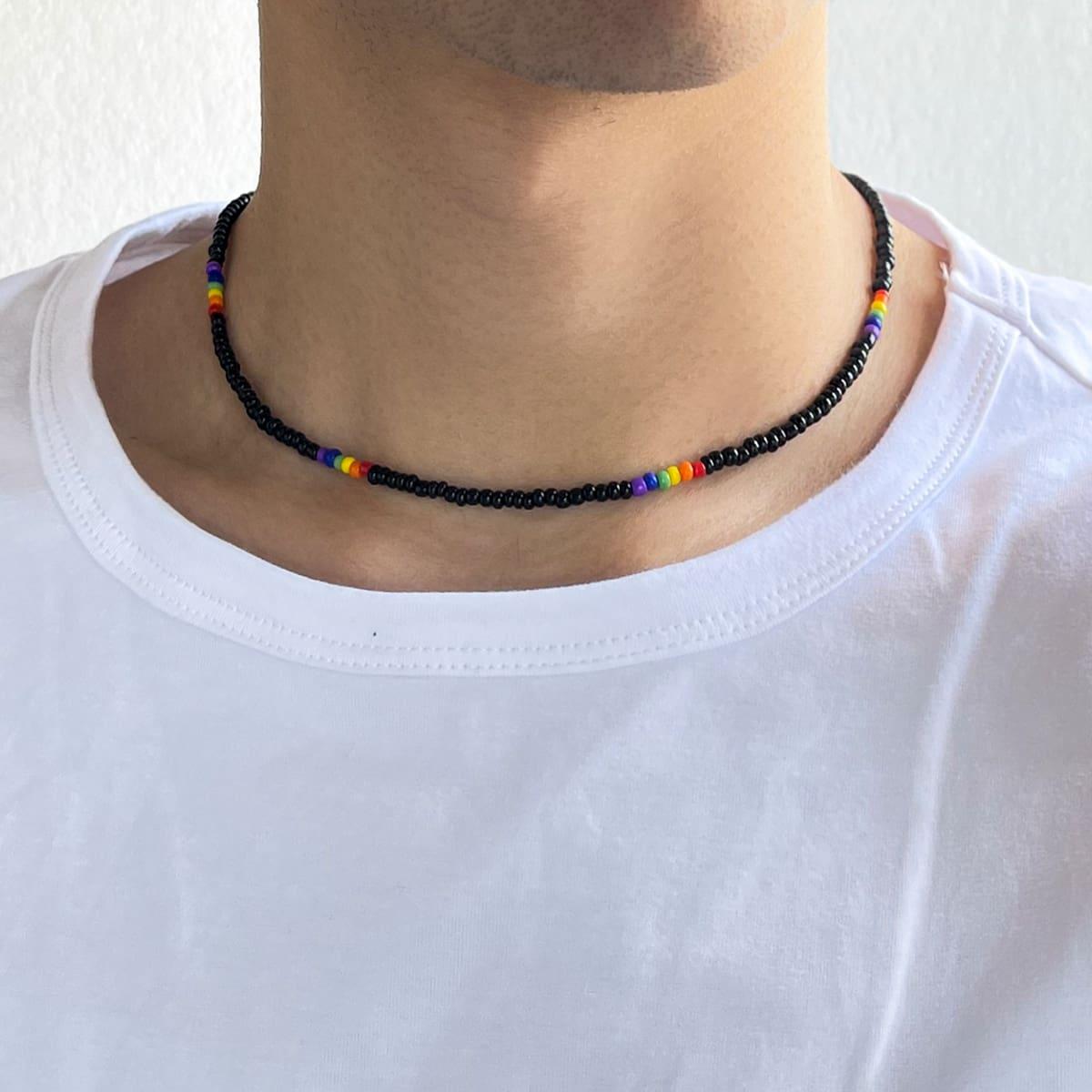 Мужской Ожерелье из бисера