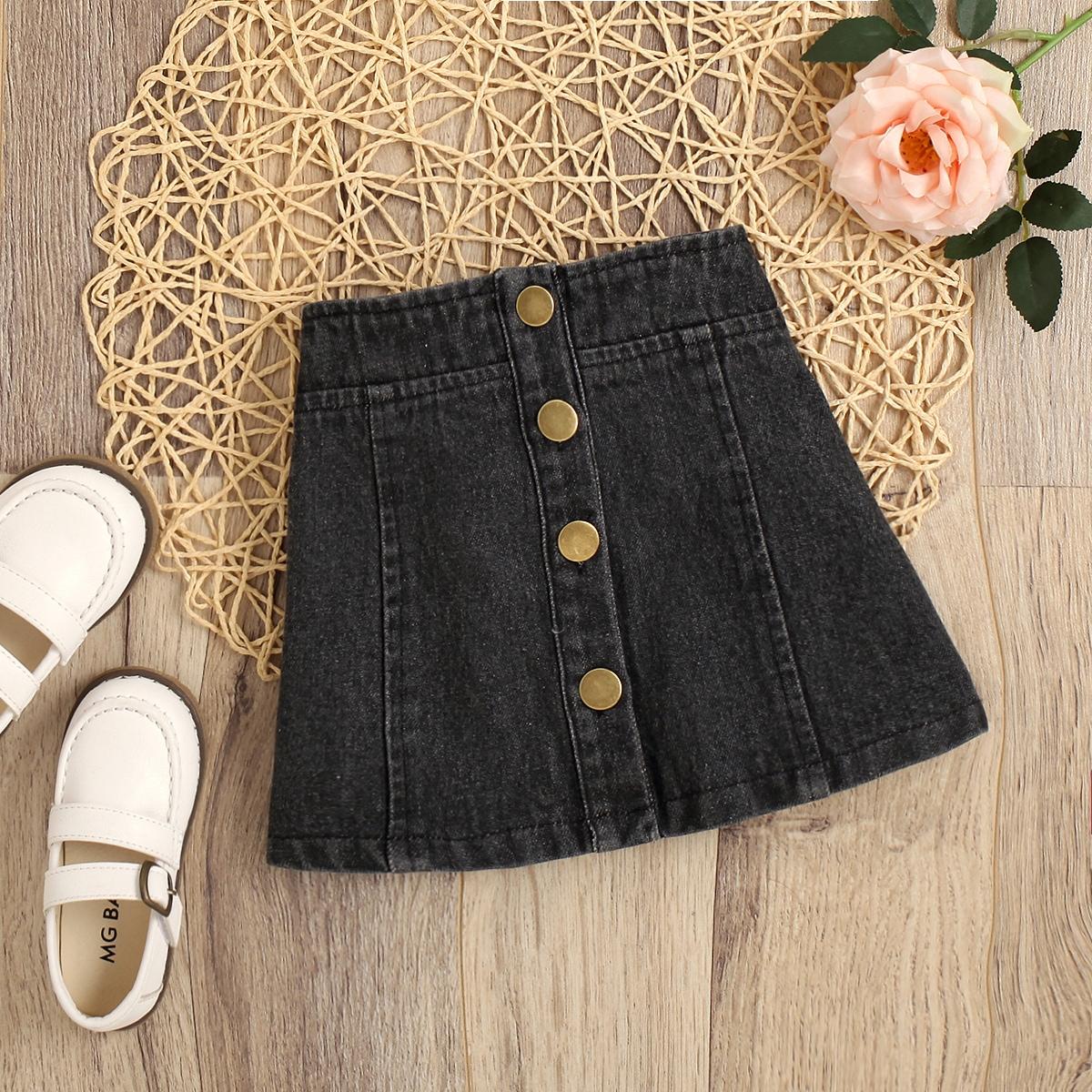 Джинсовая юбка для девочек от SHEIN