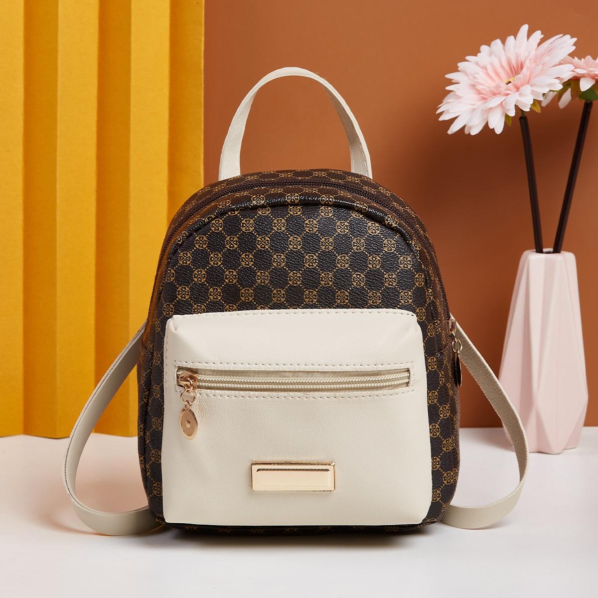 Классический рюкзак с графическим принтом с карманом
