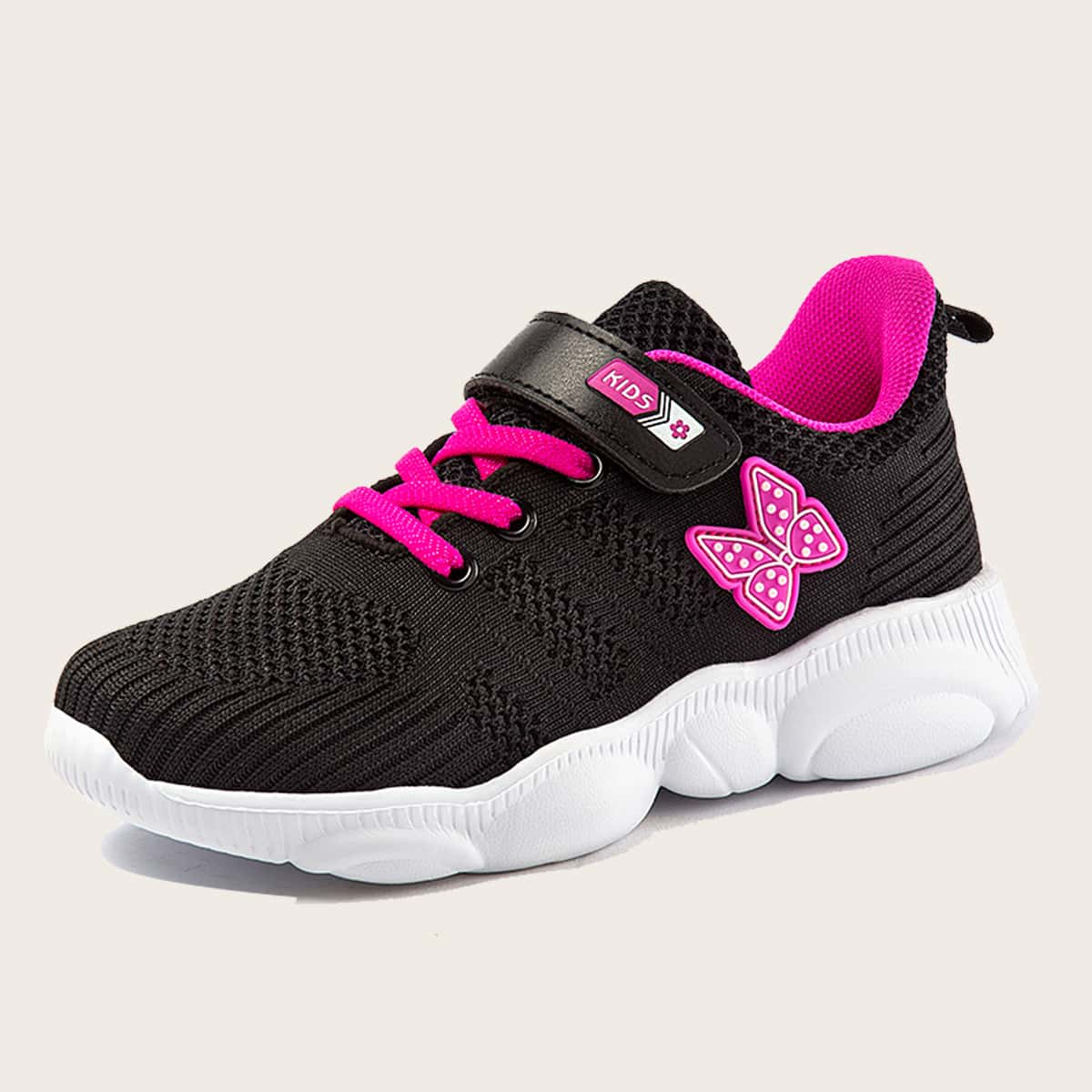 Кроссовки для девочек с аппликациями бабочки от SHEIN