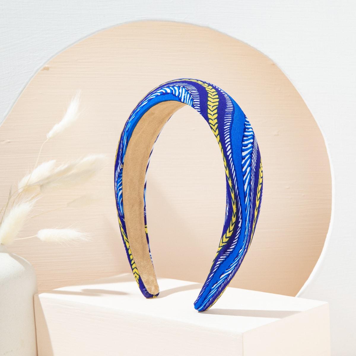 Простой ободок для волос SHEIN. Цвет: ярко-синий