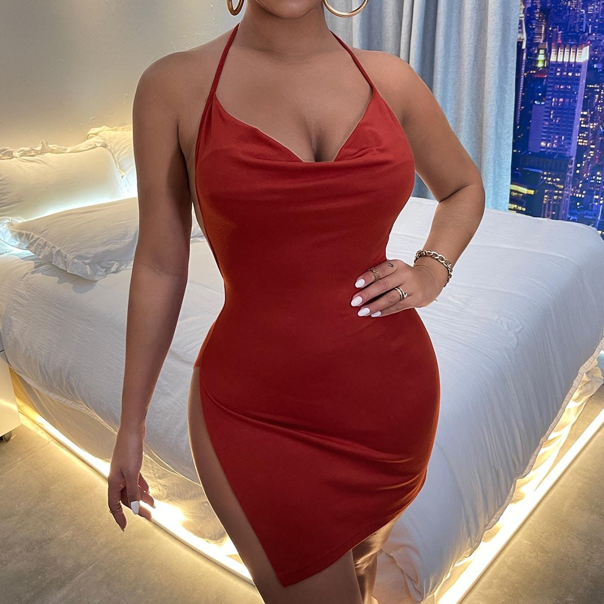 Платье с вырезом на спине SheIn sw2106276988221303
