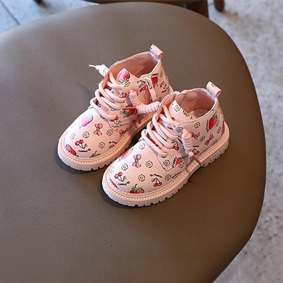 Ботинки с рисунком клубники и вишни для девочек SheIn sk2107201541381858