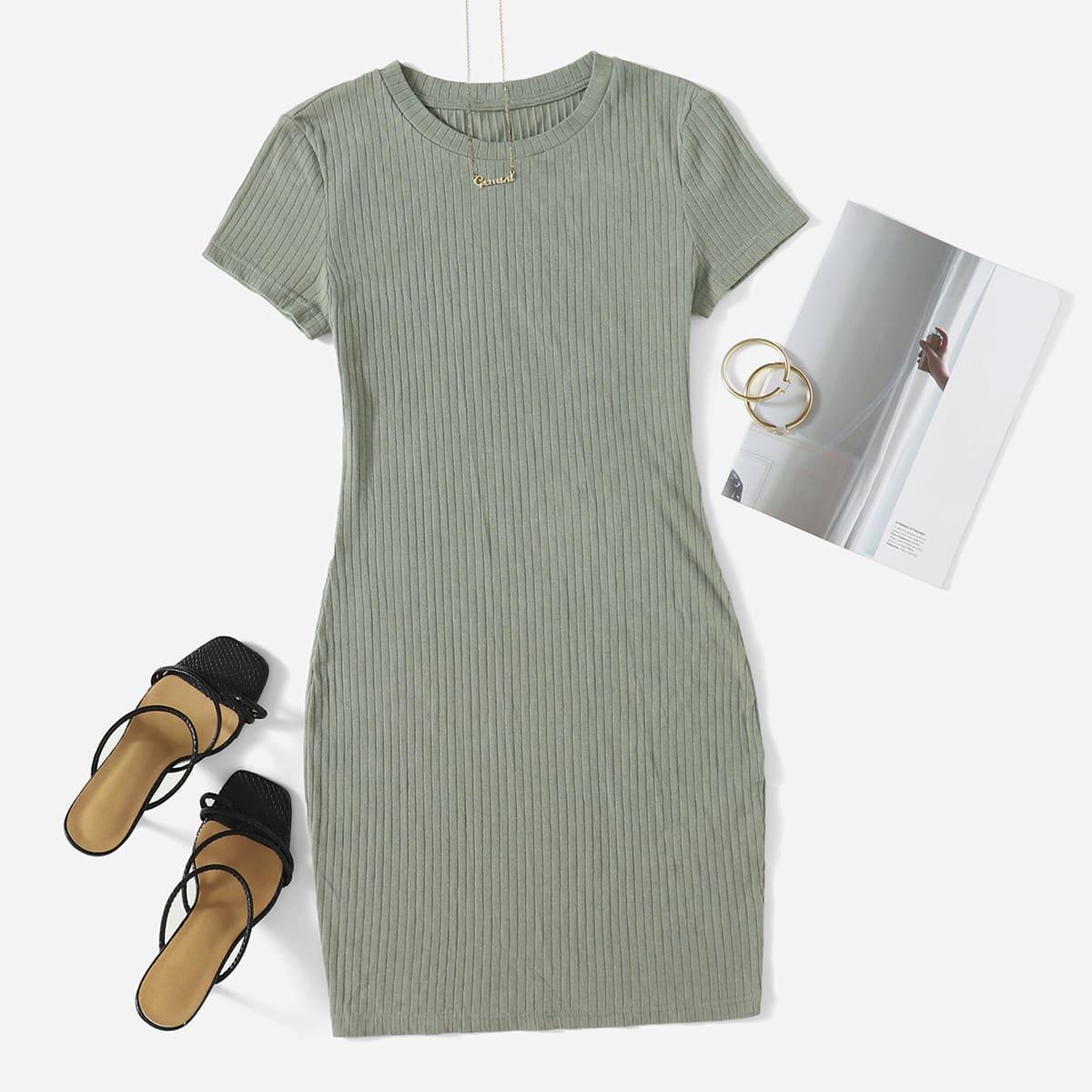 Вязаное облегающее платье SheIn sWR200722000614741
