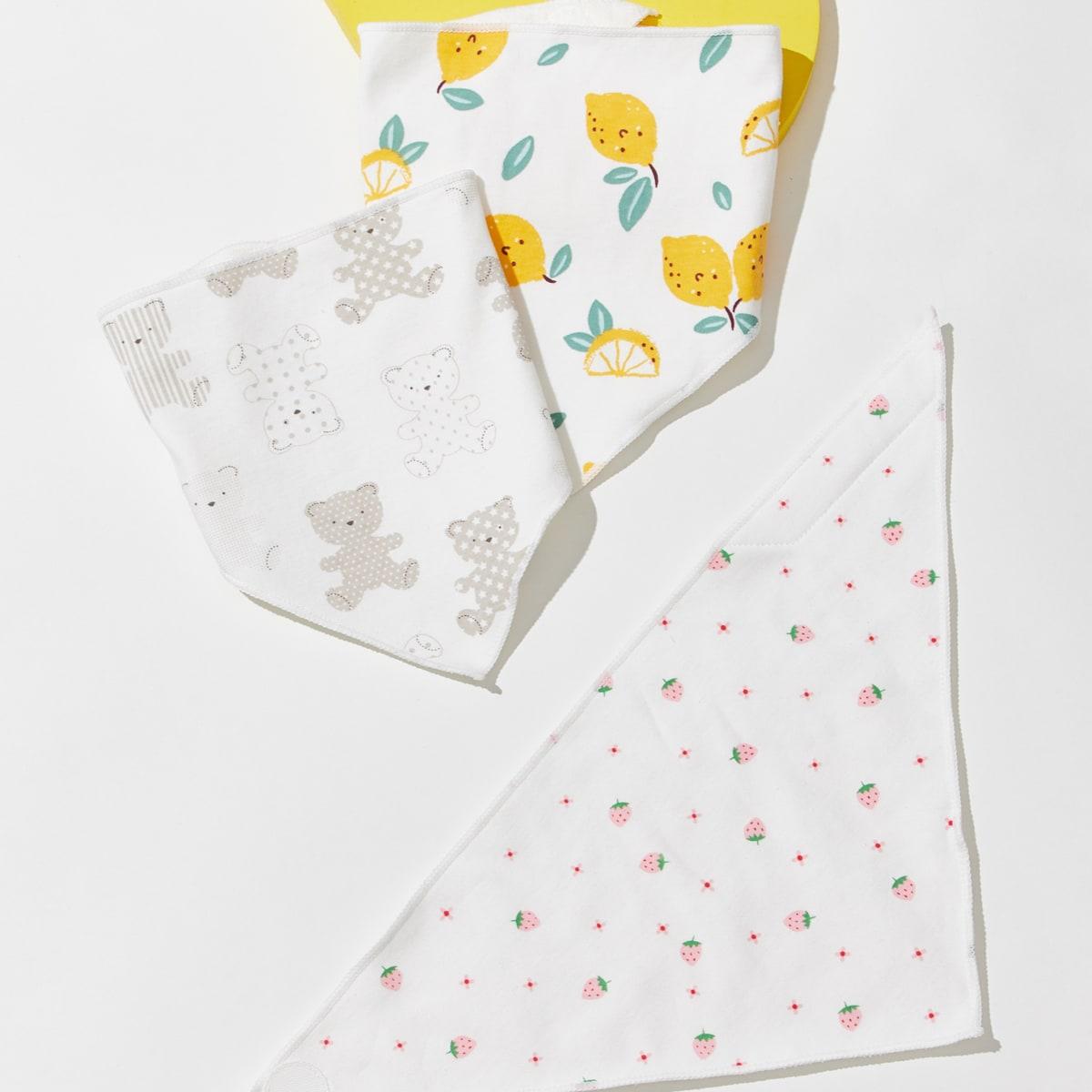 Baby Fruit Pattern Bib, SHEIN  - buy with discount