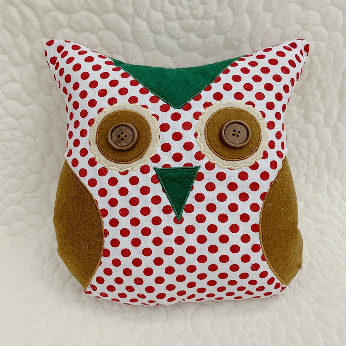 Декоративная подушка сова в форме