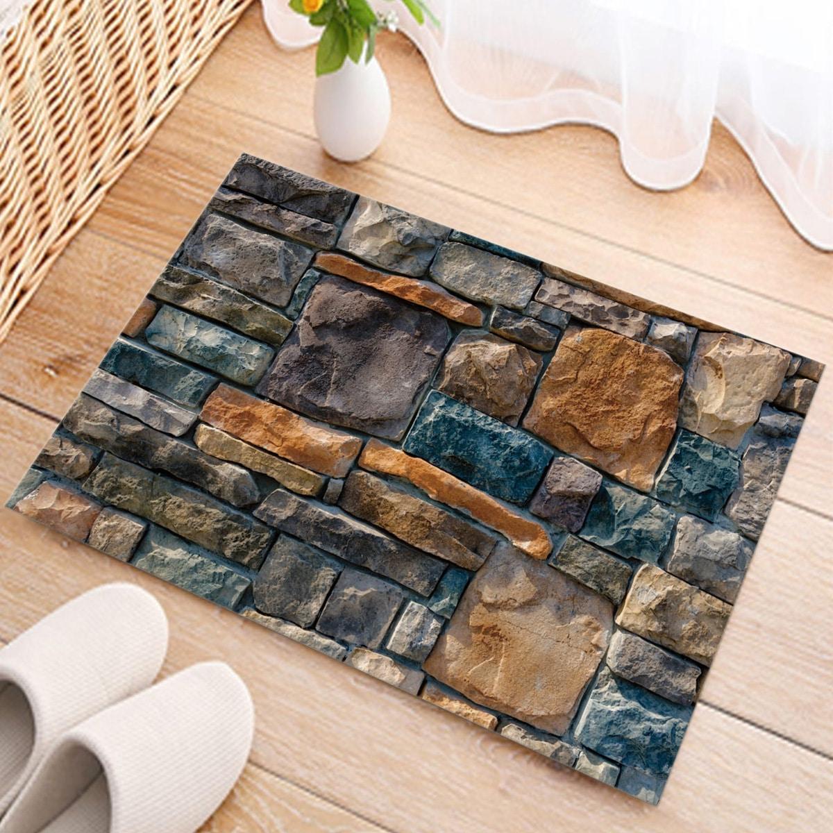 Напольный коврик камень с рисунком