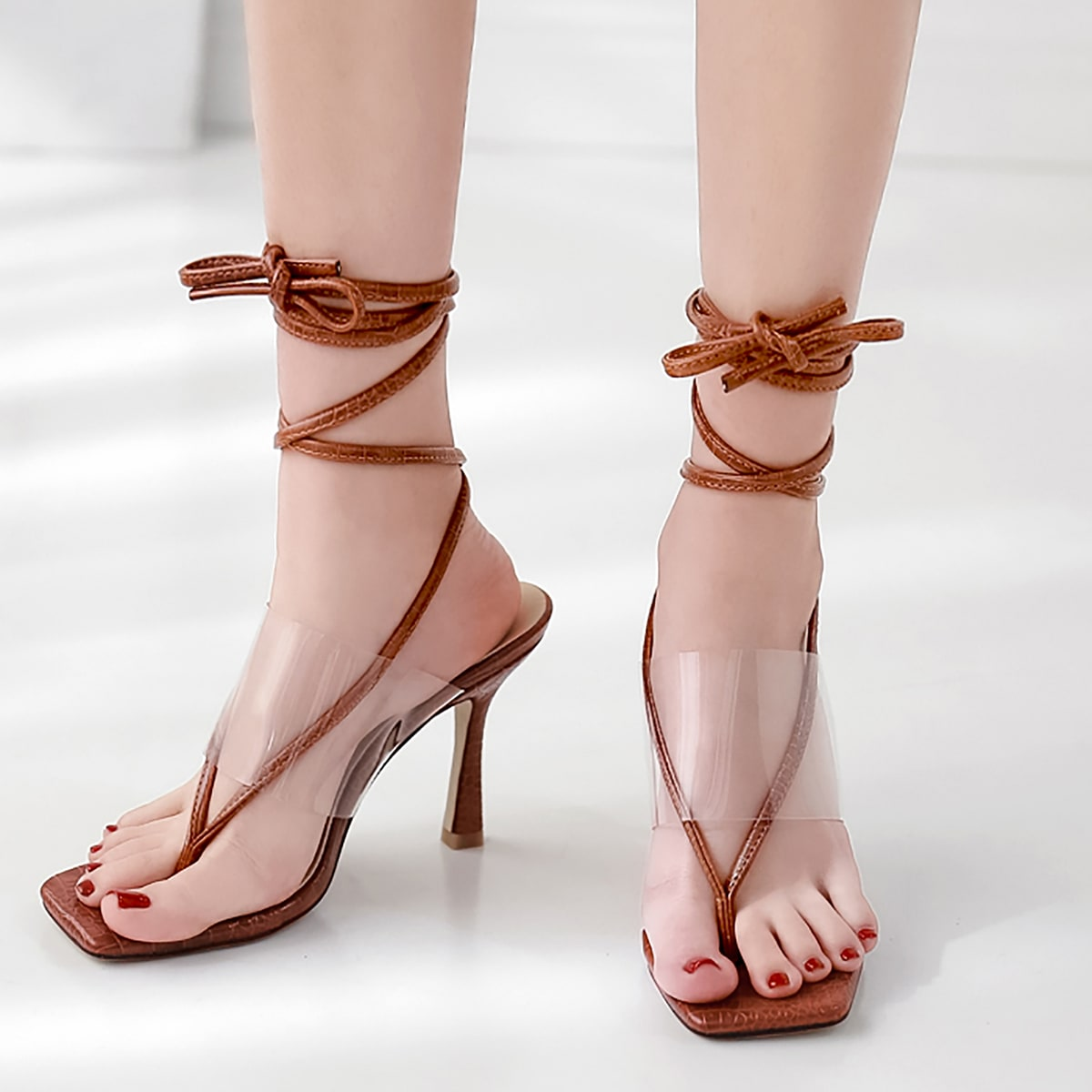 Сандалии минималистичный сланцы на каблуке