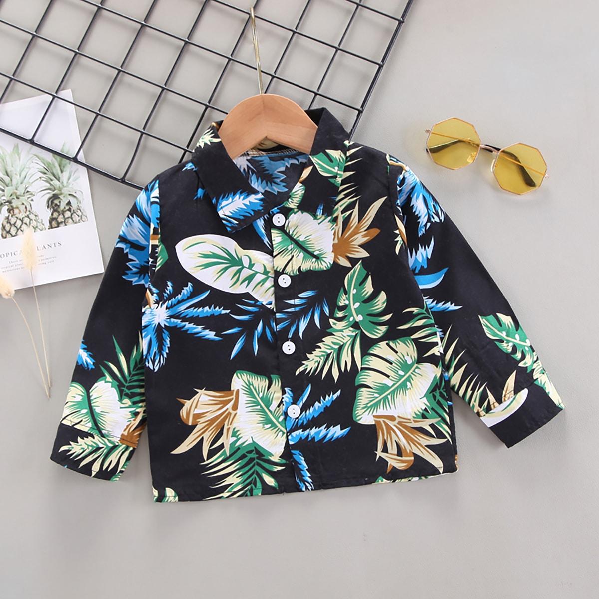 для мальчиков Рубашка с тропическим принтом