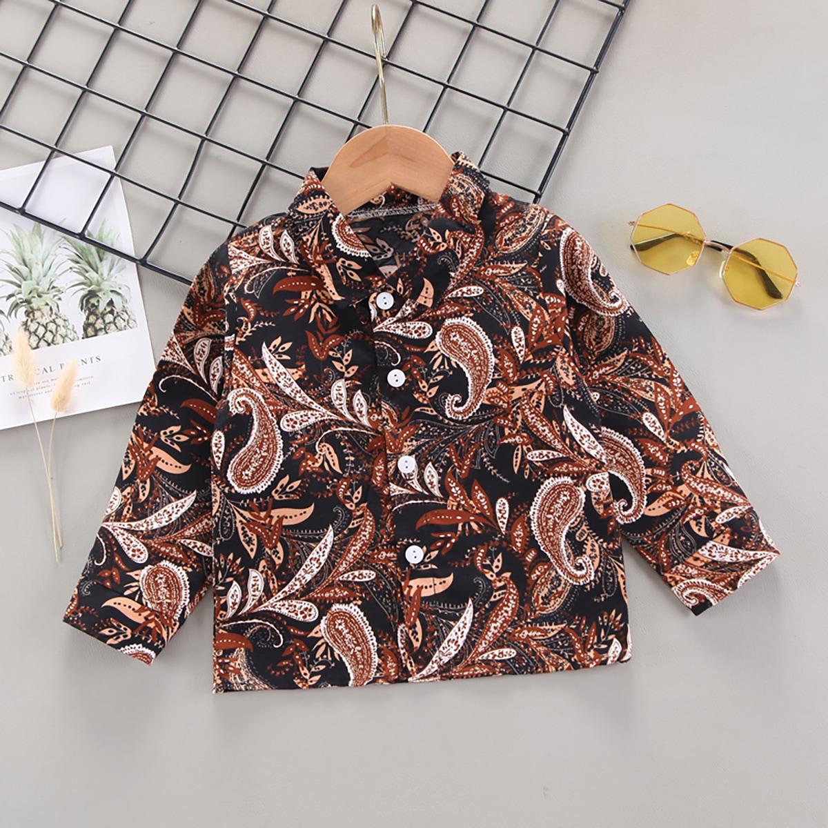 для мальчиков Рубашка с принтом пейсли на пуговицах