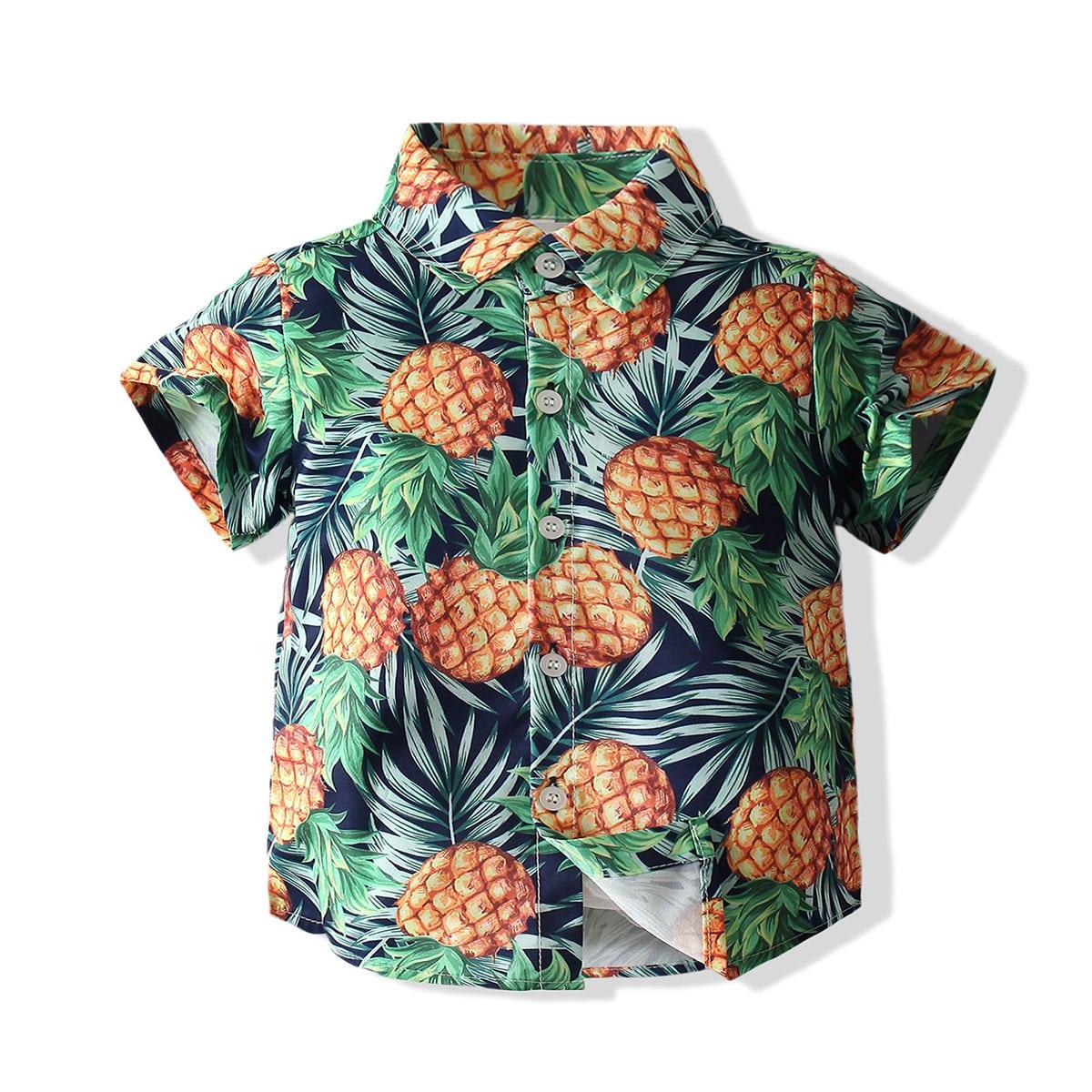 для мальчиков Рубашка ананаса и с тропическим принтом