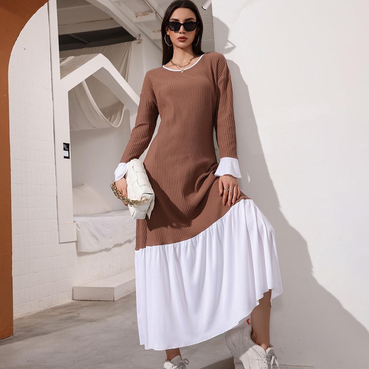 Платье с рукавами-воланами SheIn sW210617568615768