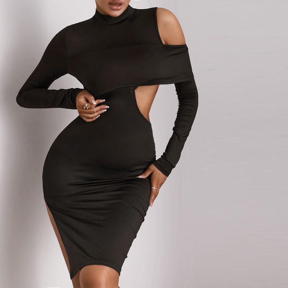 Платье с разрезом высоким разрезом SheIn sw2106288944456405