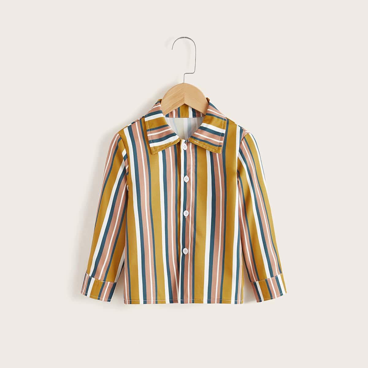 для мальчиков Рубашка в красочную полоску