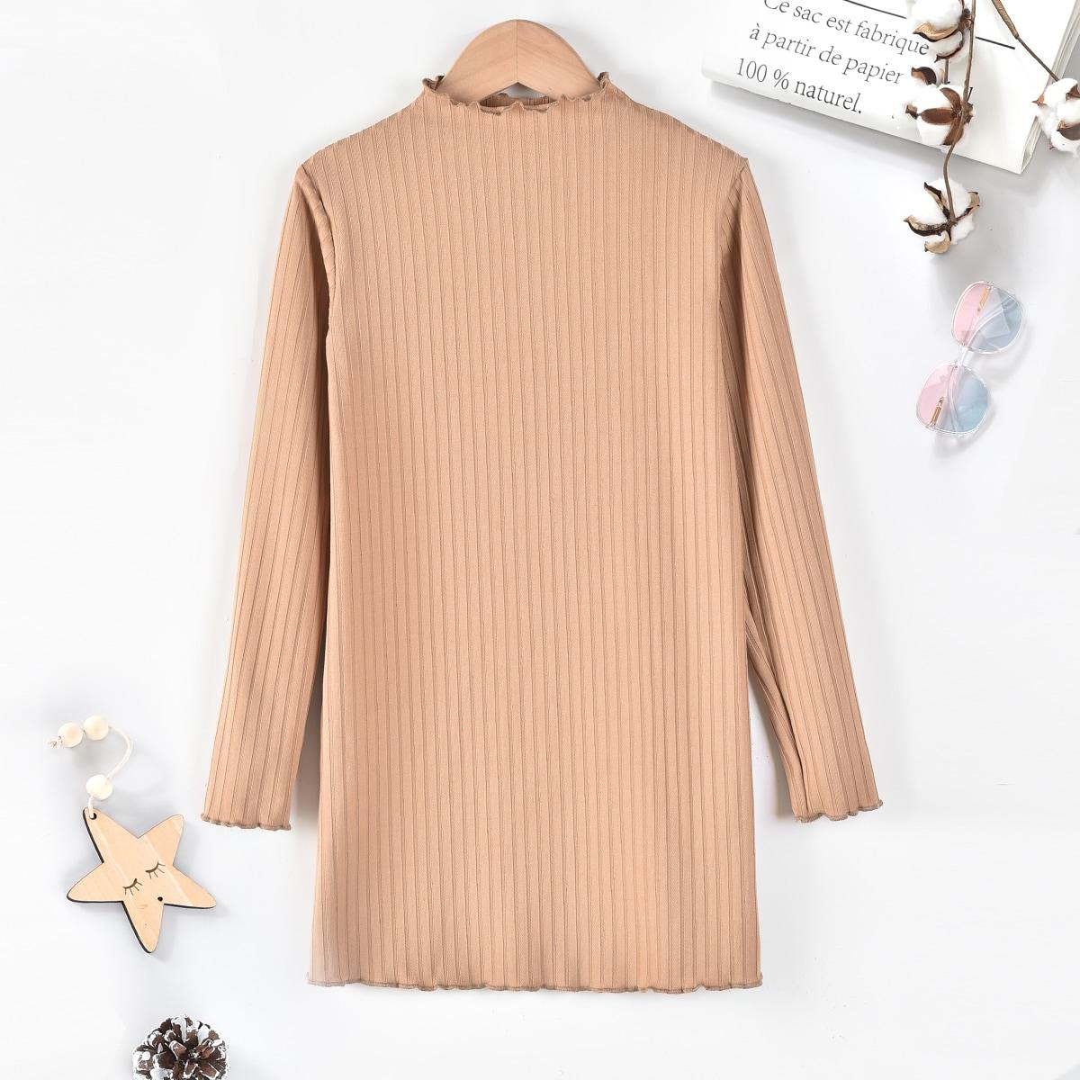 Трикотажное платье-туника для девочек