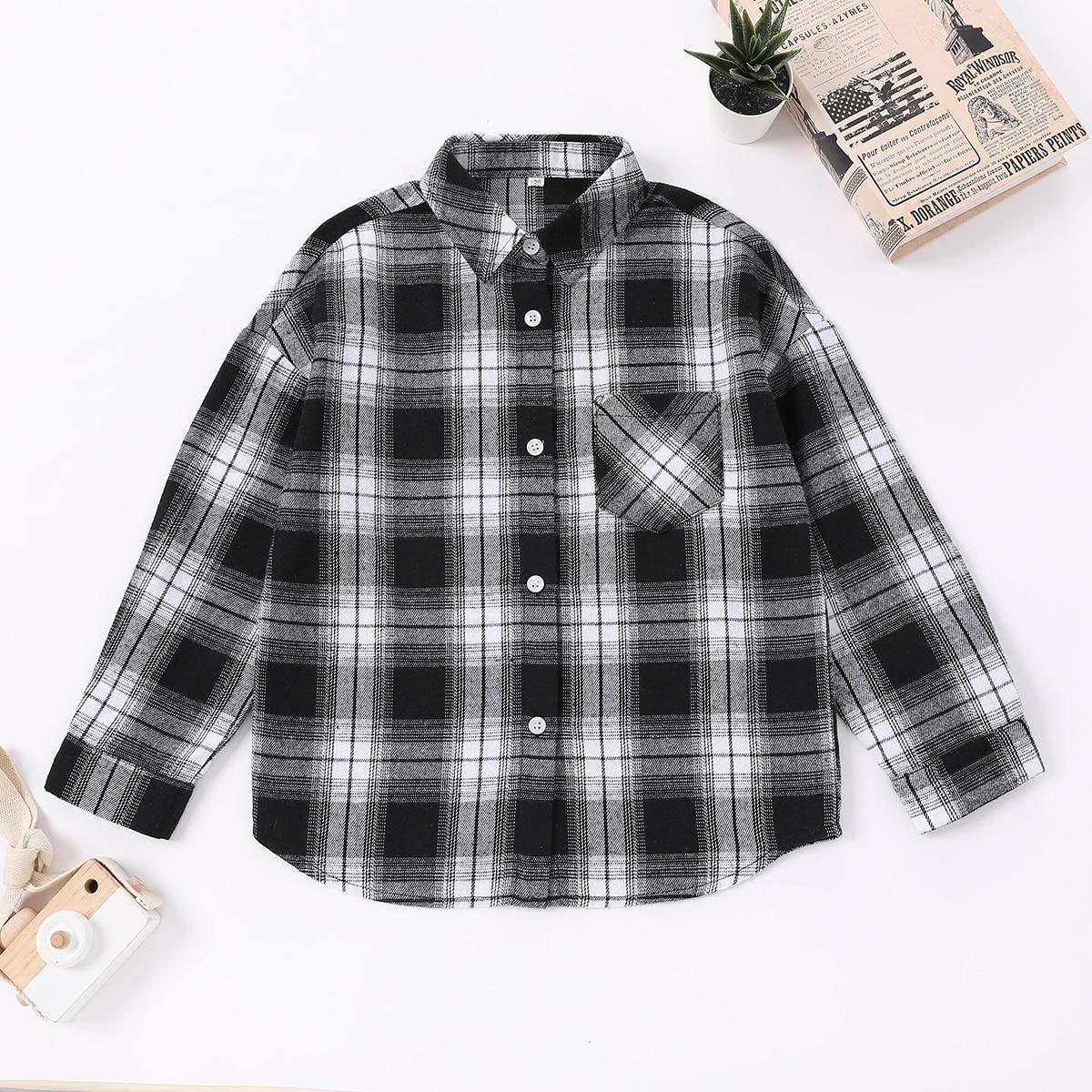 Рубашка с карманами для мальчиков