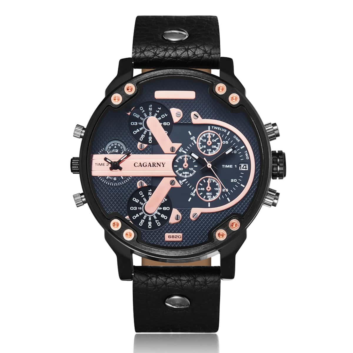 Мужской Кварцевые часы с датой мульти часовой пояс