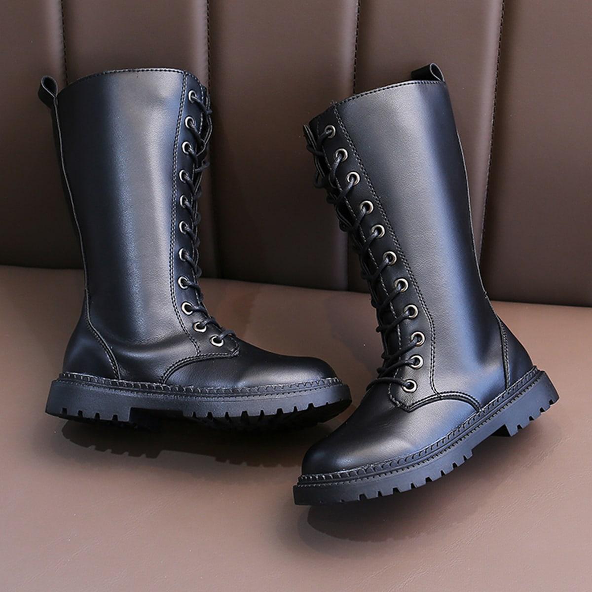 Минималистичные ботинки на шнурке для девочек SheIn sk2107255905541810