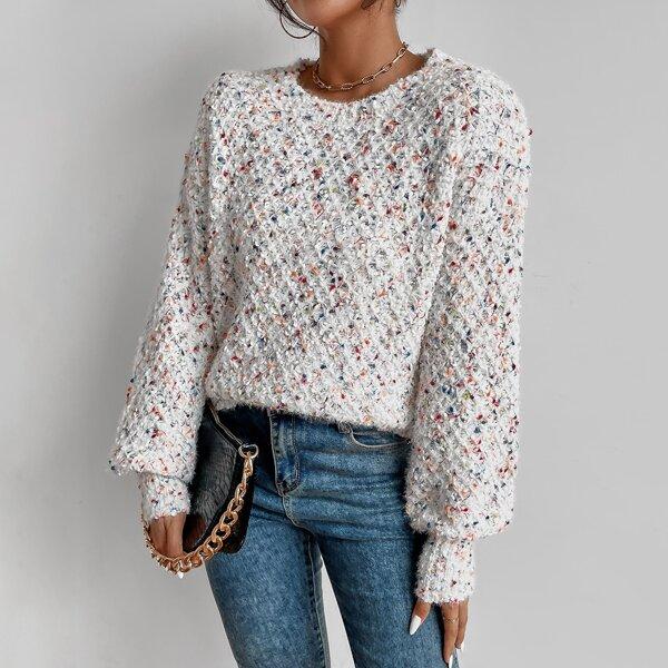 Space Dye Bishop Sleeve Sweater, Multicolor