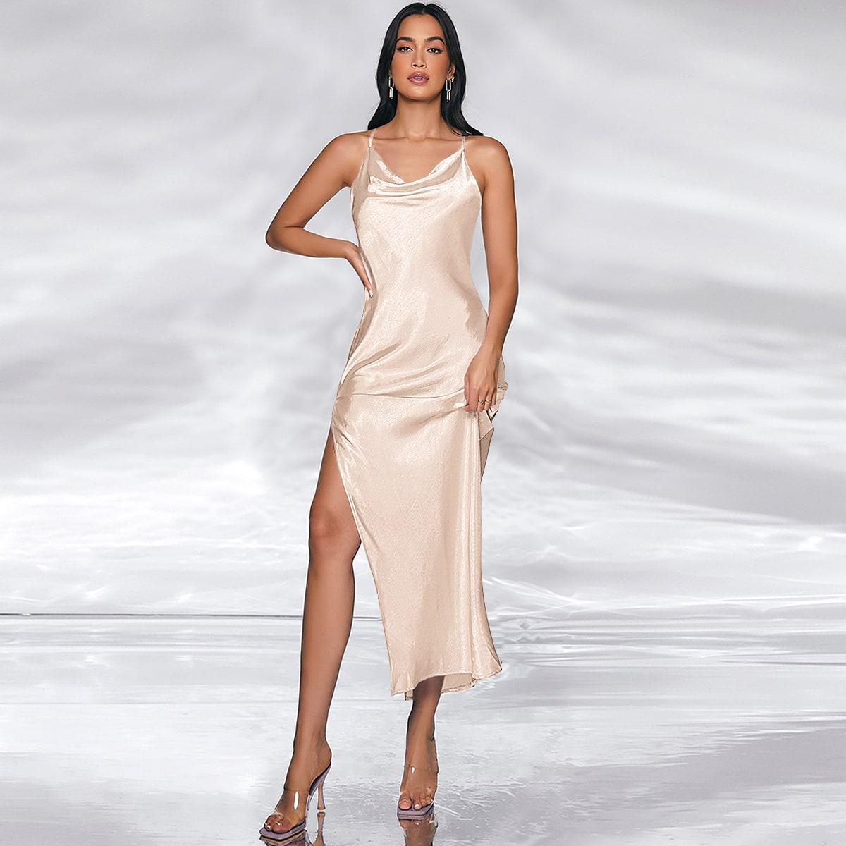 Платье на бретелях SheIn sS2105130113767261