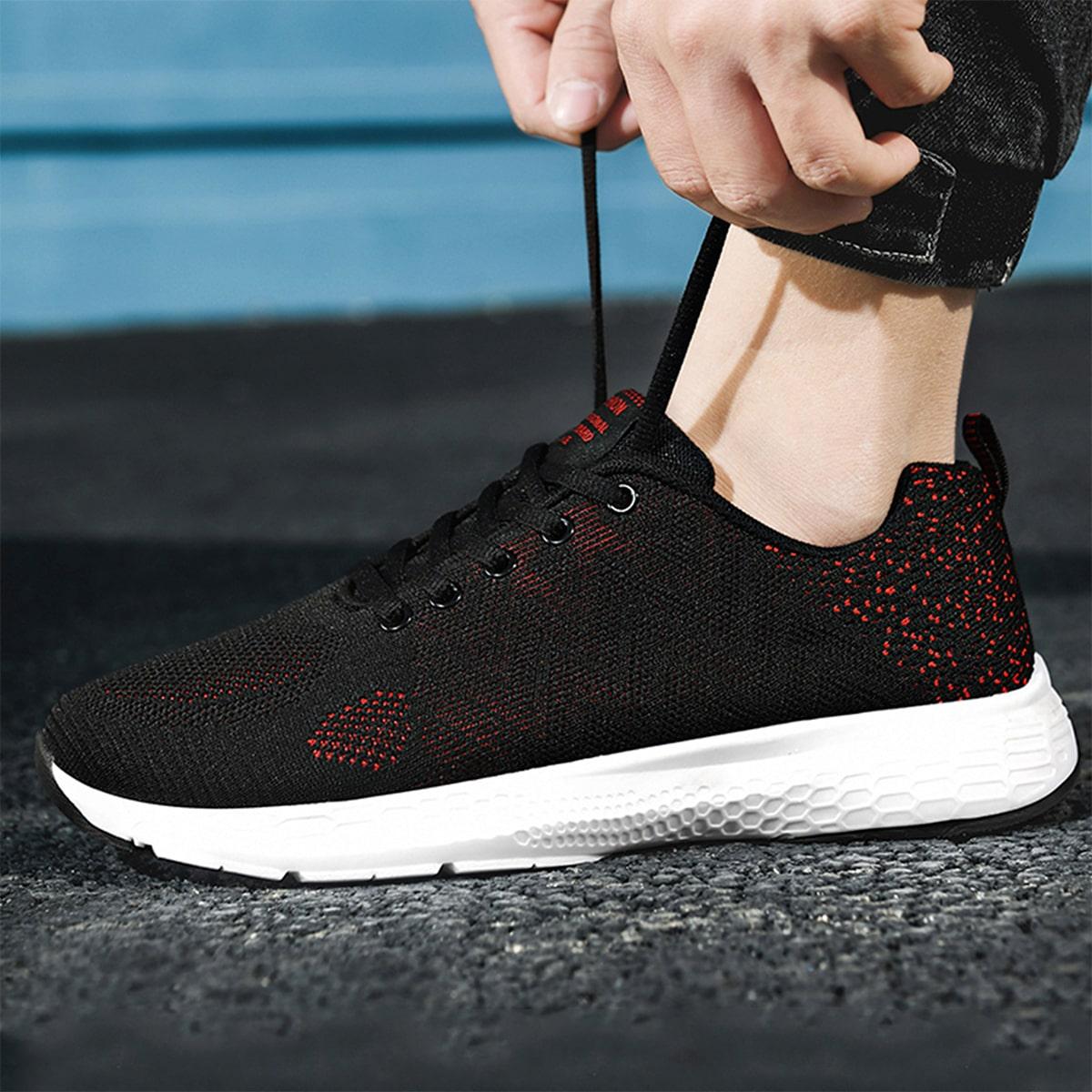 Мужской Беговая обувь двухцветный со шнурком