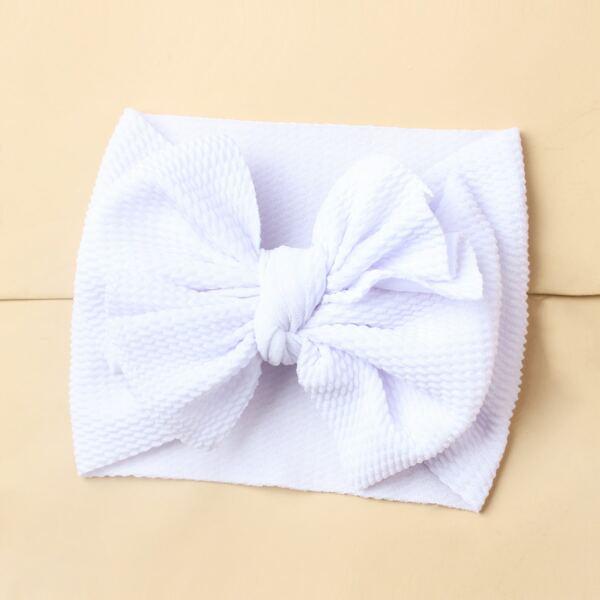 Baby Bow Decor Hair Band, White