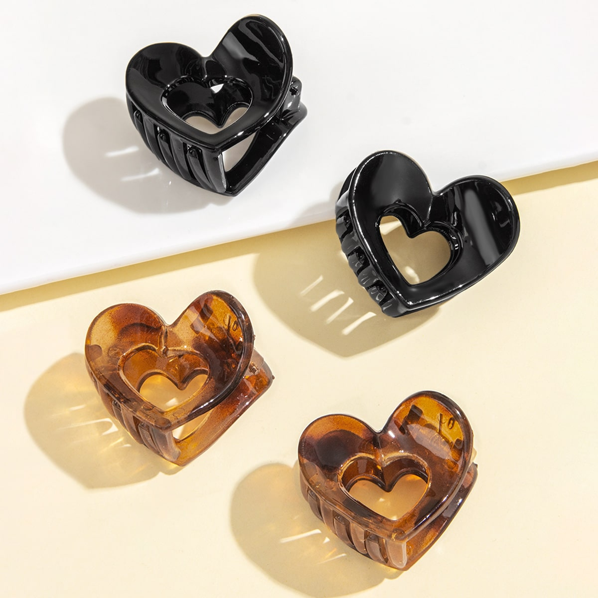 Heart Design Hair Claw, SHEIN  - buy with discount