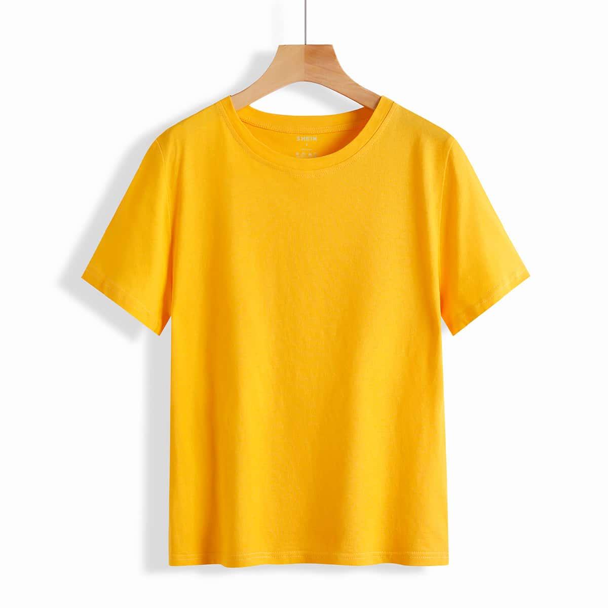 Однотонная футболка SheIn swtee24210525294