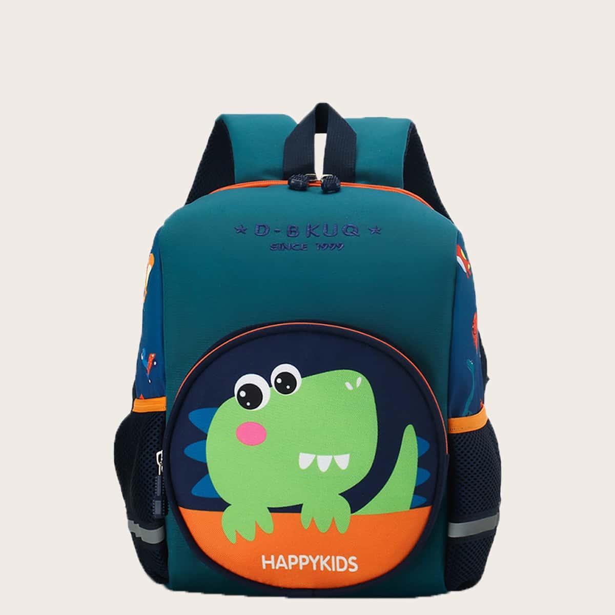 Рюкзак с узором динозавра для мальчиков SheIn sk2107243109191301