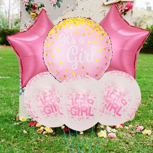 6pcs Baby Shower Party Balloon, Multicolor