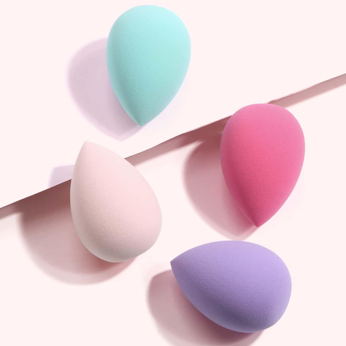 4шт Спонж для макияжа каплей воды в форме