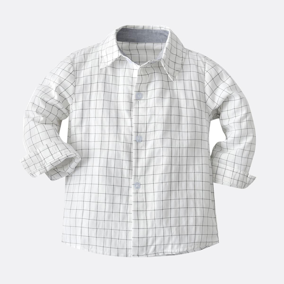 Рубашка с принтом на оконном стекле для мальчиков