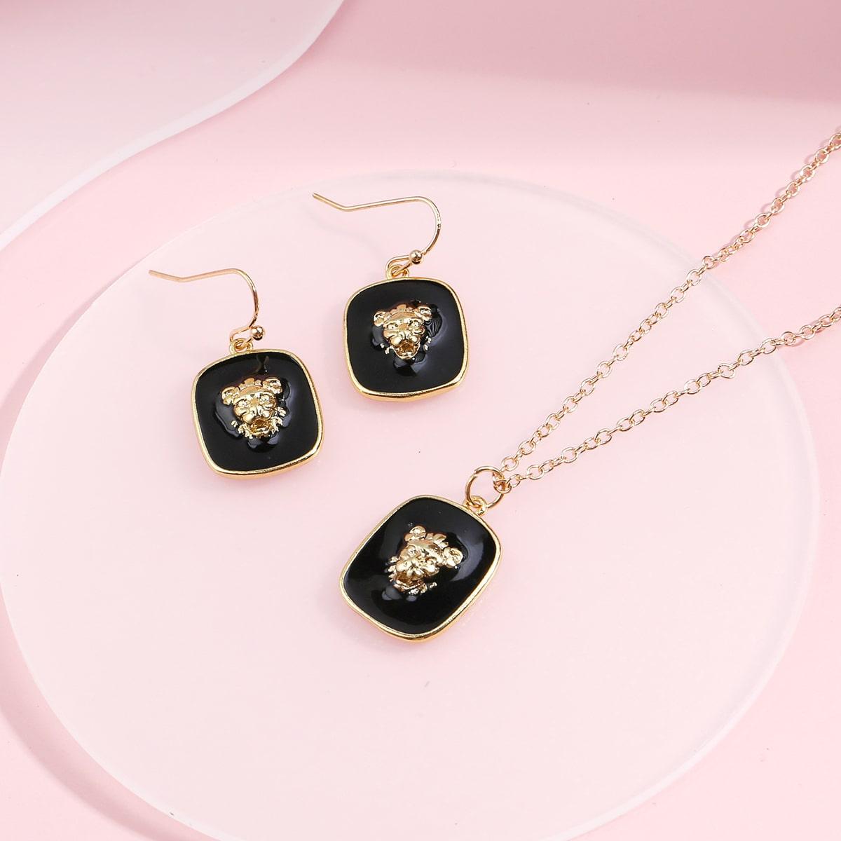 Geometric Pendant Jewelry Set, SHEIN  - buy with discount